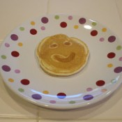 smiley face pancakes
