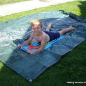 homemade slip and slide