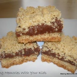 Chocolate Caramel Streusel Bars