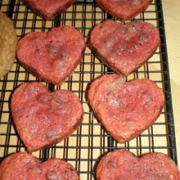 Chocolate Chip Cookies Valentine'd Up