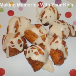 Cinnamon Roll Bites with Maple Frosting