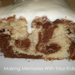 {Secret Recipe Club} Marble Cake with White Chocolate Glaze