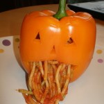 puking pumpkin dinner idea