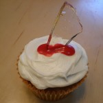 glass shard cupcake