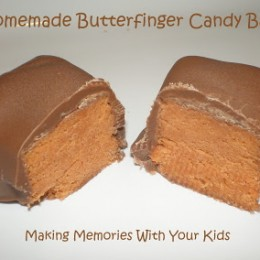 Homemade Butterfinger Candy Bars
