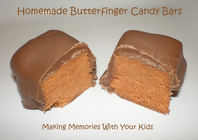 Homemade Butterfinger Candy Bars - Making Memories With ...