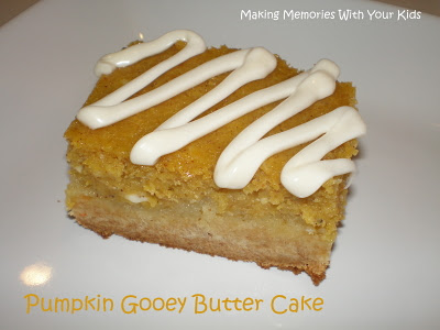 Pumpkin Gooey Butter Cake - Making Memories With Your Kids