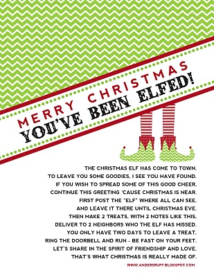 You've Been Elfed and Free Printables - Making Memories ...