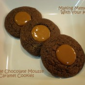 double chocolate mousse caramel cookies