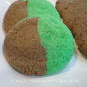 St Patrick's Day marble cookies