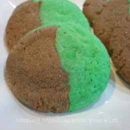 St. Patrick's Day Marble Cookies