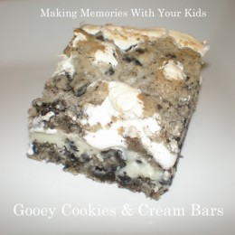 Gooey Cookies & Cream Bars