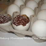 egg shaped brownies