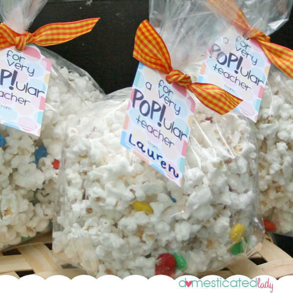 Classified employees week ideas for gifts teacher appreciation domesticated lady made these cute popcorn gifts just substitute ha no pun intended teacher with secretary or cook etc negle Choice Image