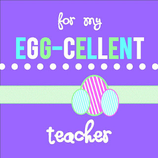 A great treat for my egg cellent teacher making memories with your my kids filed up plastic eggs with easter candy and put them in an egg carton negle Image collections