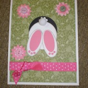 bunny in a hole card