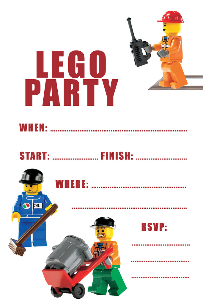 Lively image pertaining to lego birthday invitations printable