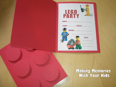 lego birthday party: the invitations - making memories with your kids, Party invitations