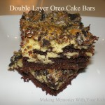 double layer oreo cake bars