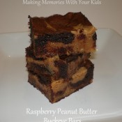 raspberry peanut butter buckeye bars