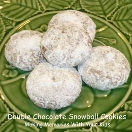 Double Chocolate Snowball Cookies {Secret Recipe Club}