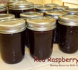 Homemade Red Raspberry Jelly