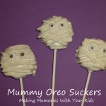 Mummy Oreo Suckers