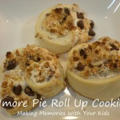 s'more pie roll up cookies