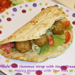 Falafel and Hummus Wrap with Stonefire Naan Bread & a Giveaway
