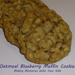 Oatmeal Blueberry Muffin Cookies with Better Oats