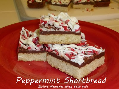 peppermint shortbread