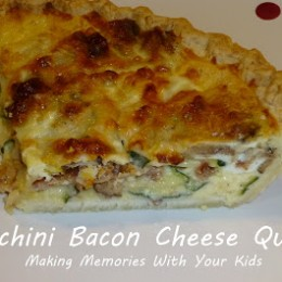 Zucchini Bacon and Cheese Quiche