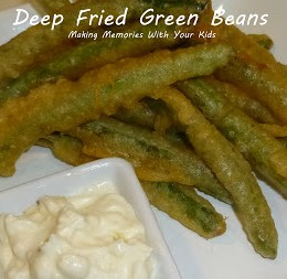 Deep Fried Green Beans with Garlic Aioli {Secret Recipe Club}