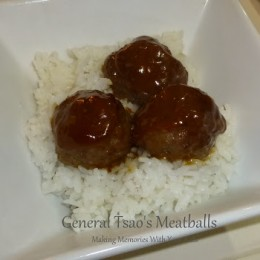 General Tsao's Meatballs from Thai Kitchen & Simply Asia