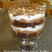 snickers brownie trifle