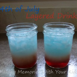 4th of July Layered Drinks