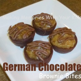 German Chocolate Brownie Bites