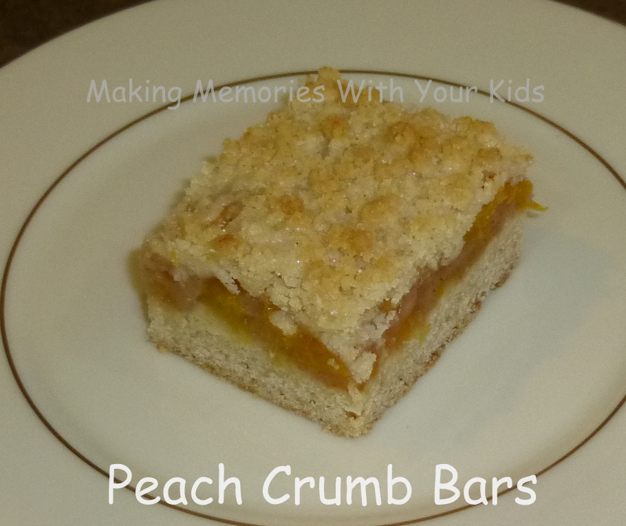 Peach Crumb Bars - Making Memories With Your Kids