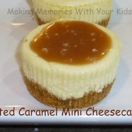 Salted Caramel Mini Cheesecake