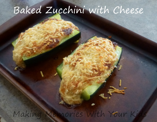 baked zucchini with cheese