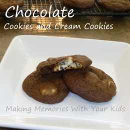 Chocolate Cookies and Cream Cookies