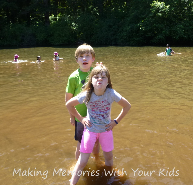 kids in the swimming hole