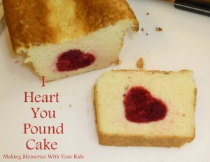 I heart you pound cake