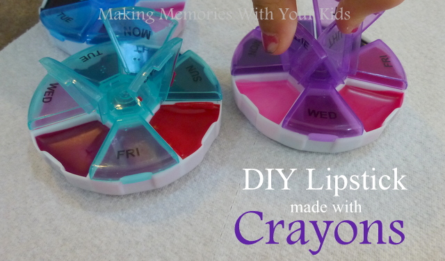DIY lipstick with crayons