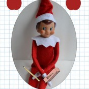 elf on the shelf first day of school postcard