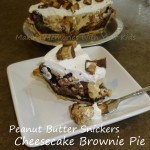 peanut butter snickers cheesecake brownie pis