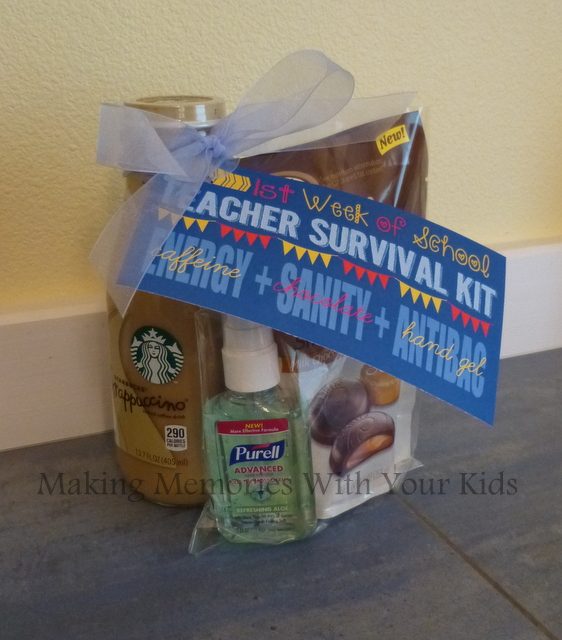 teacher survival kit back to school