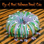 eye of newt halloween bundt cake