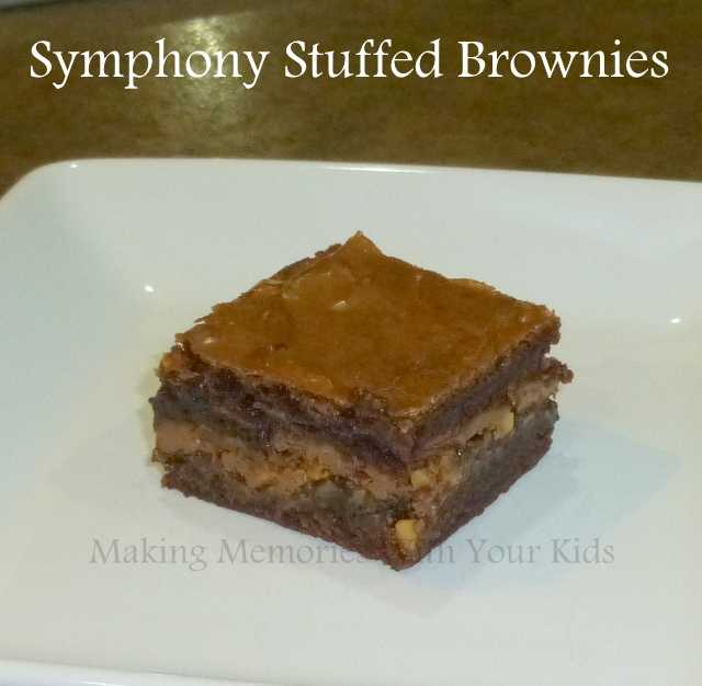 symphony chocolate bar stuffed brownies