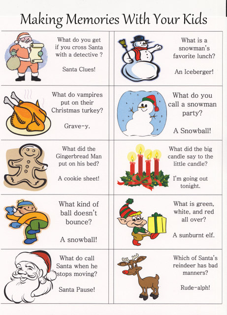 Corny Christmas Jokes.Christmas Lunch Box Jokes Making Memories
